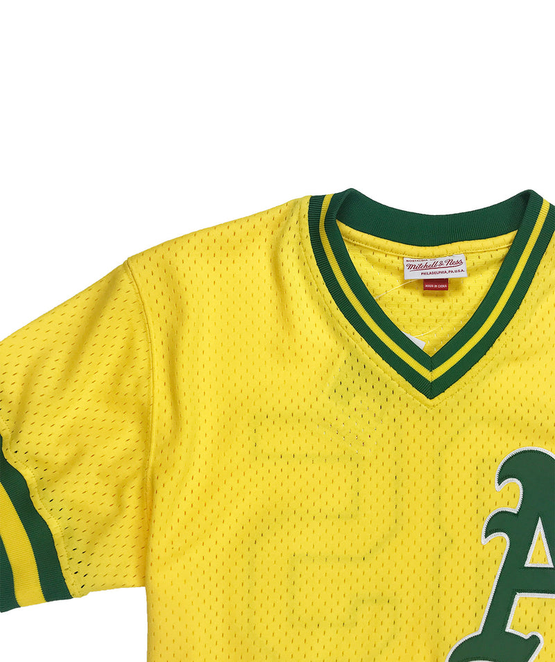 Mitchell & Ness Ricky Henderson Oakland Athletics BP Jersey Gold Neckline