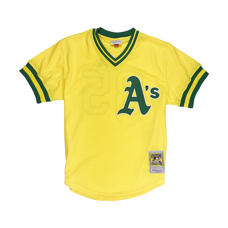 Mitchell & Ness Ricky Henderson Oakland Athletics BP Jersey Gold