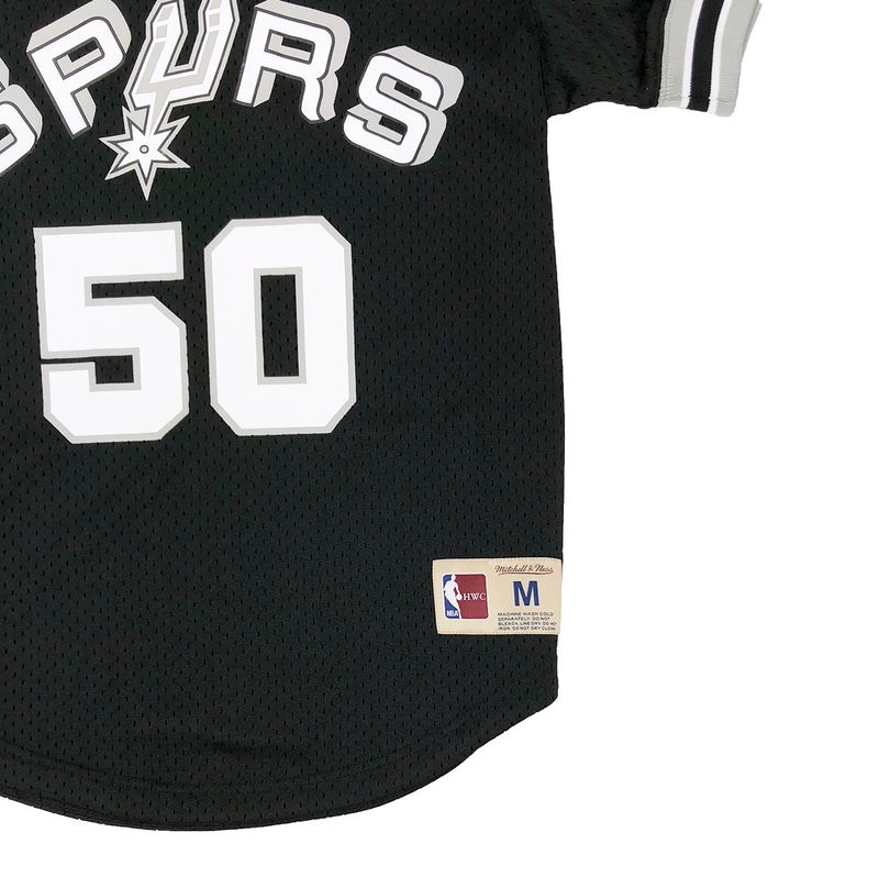 Mitchell & Ness San Antonio Spurs David Robinson Mesh Jersey Black Trademark