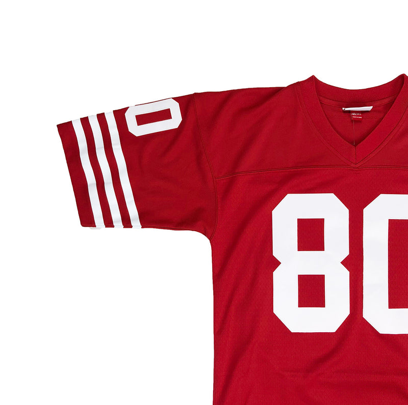Mitchell & Ness San Francisco 49ers Jerry Rice Throwback Jersey Red Neckline