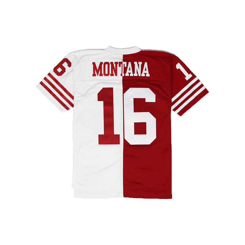 Mitchell & Ness San Francisco 49ers Joe Montana Throwback Jersey Red & White Back