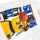Mitchell & Ness Shaquille O'Neal Slam Magazine T-Shirt White Graphic