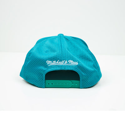 Mitchell & Ness Vancouver Grizzlies Division Mesh Snapback Hat Teal / Red Back