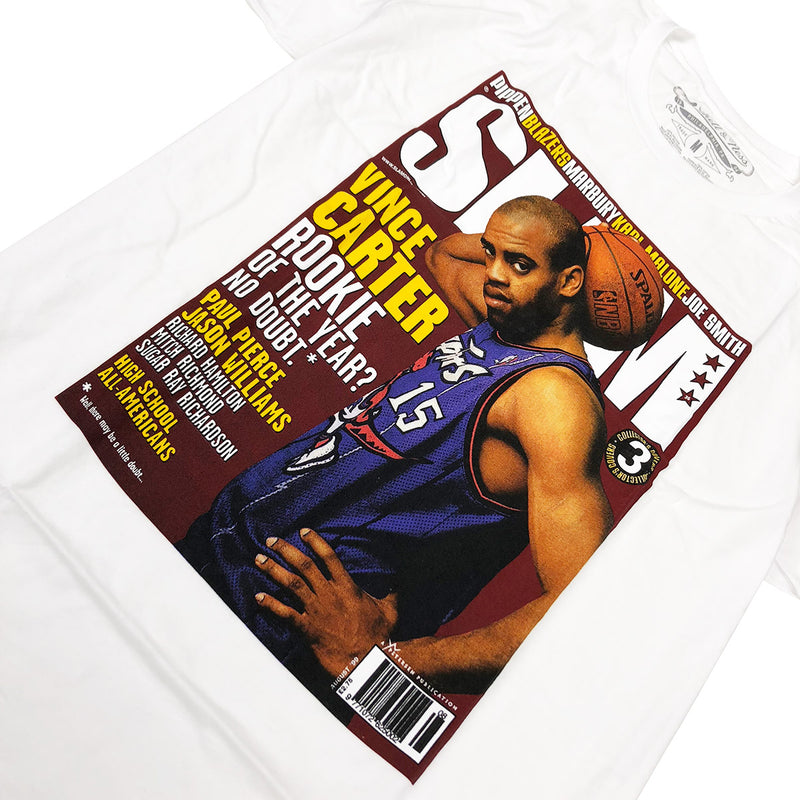 Mitchell & Ness Vince Carter Slam Magazine T-Shirt White Graphic