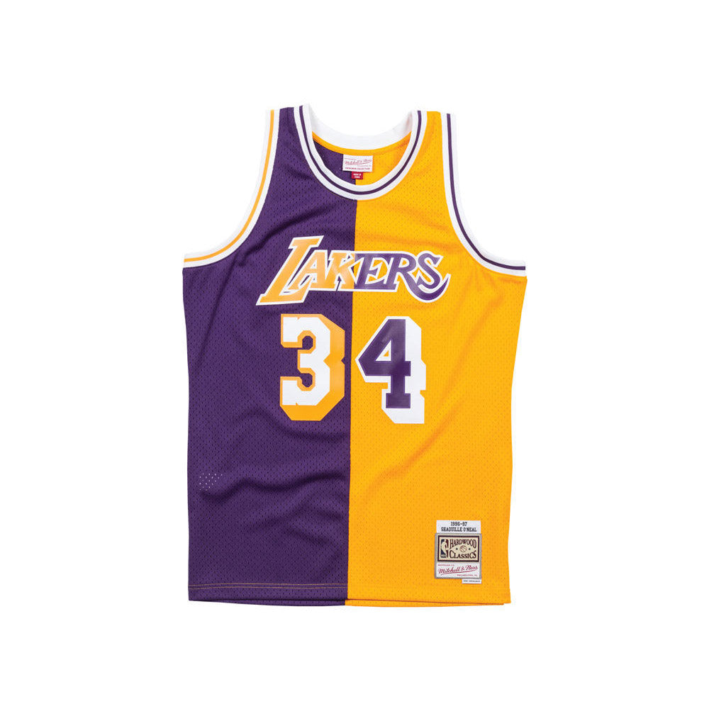Mitchell & Ness Los Angeles Lakers Shaquille O'Neal Split Swingman Jersey