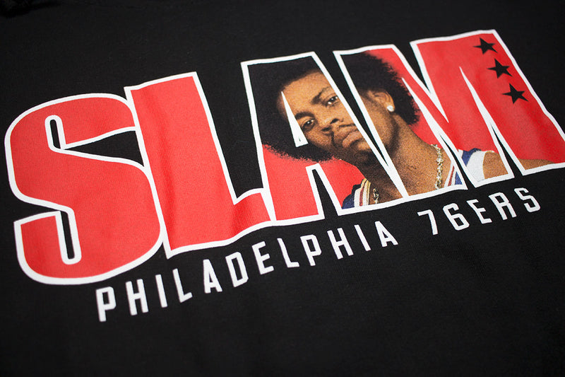 Mitchell & Ness SLAM Allen Iverson Hoody Black Artwork