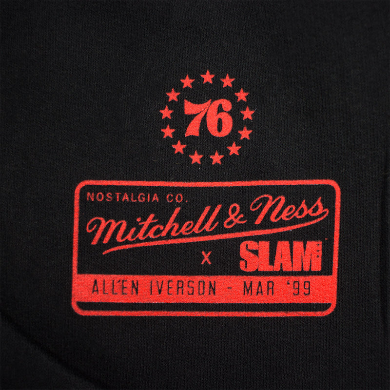 Mitchell & Ness SLAM Allen Iverson Hoody Black Tag