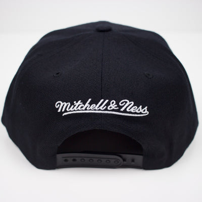 Mitchell & Ness SLAM Snapback Hat Black Back