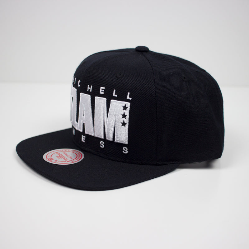 Mitchell & Ness SLAM Snapback Hat Black Left