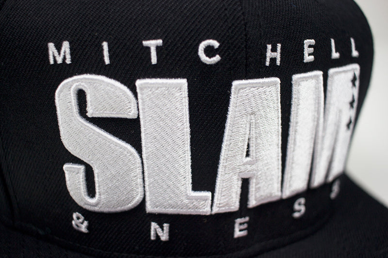 Mitchell & Ness SLAM Snapback Hat Black Patch