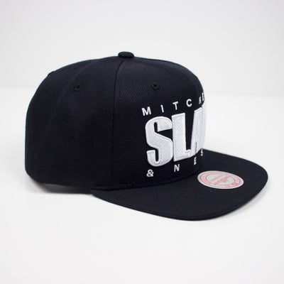 Mitchell & Ness SLAM Snapback Hat Black