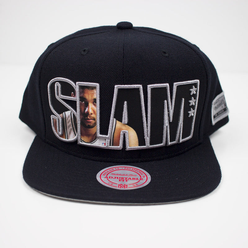 Mitchell & Ness SLAM Tim Duncan Snapback Hat Black Front
