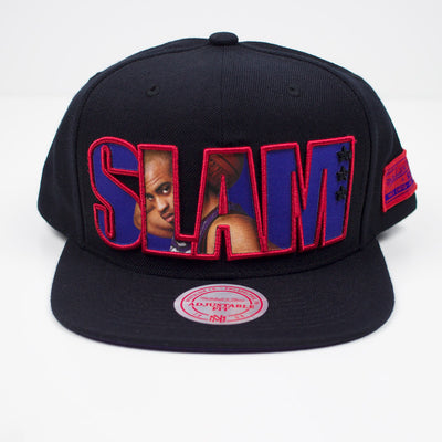 Mitchell & Ness SLAM Vince Carter Snapback Hat Black Front