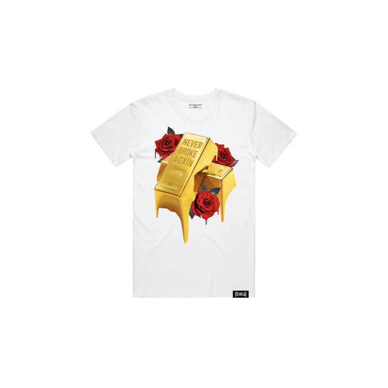 NBA Youngboy Men's Gold Drip T-Shirt White