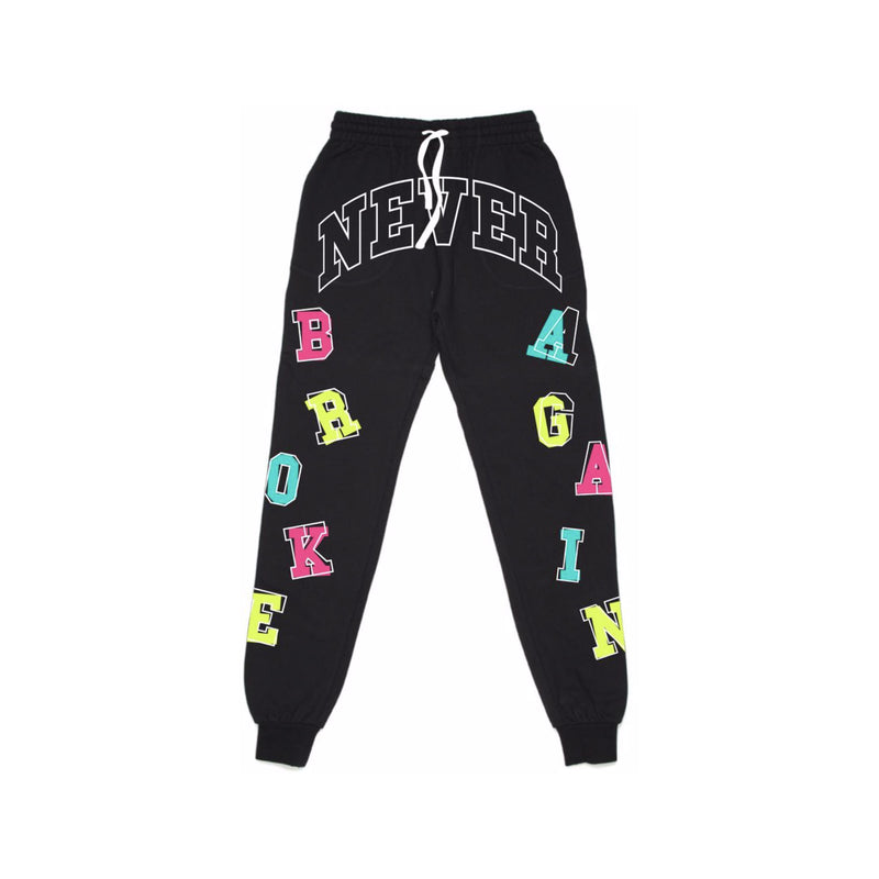 NBA Youngboy Letters Joggers Black