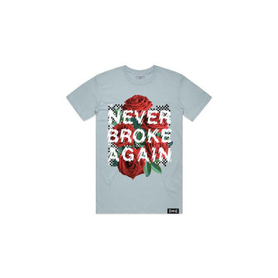 NBA Youngboy Men's Rose Checkers T-Shirt Teal
