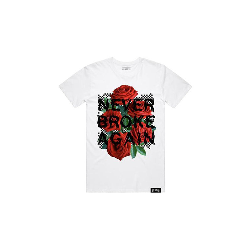 NBA Youngboy Men's Rose Checkers T-Shirt White