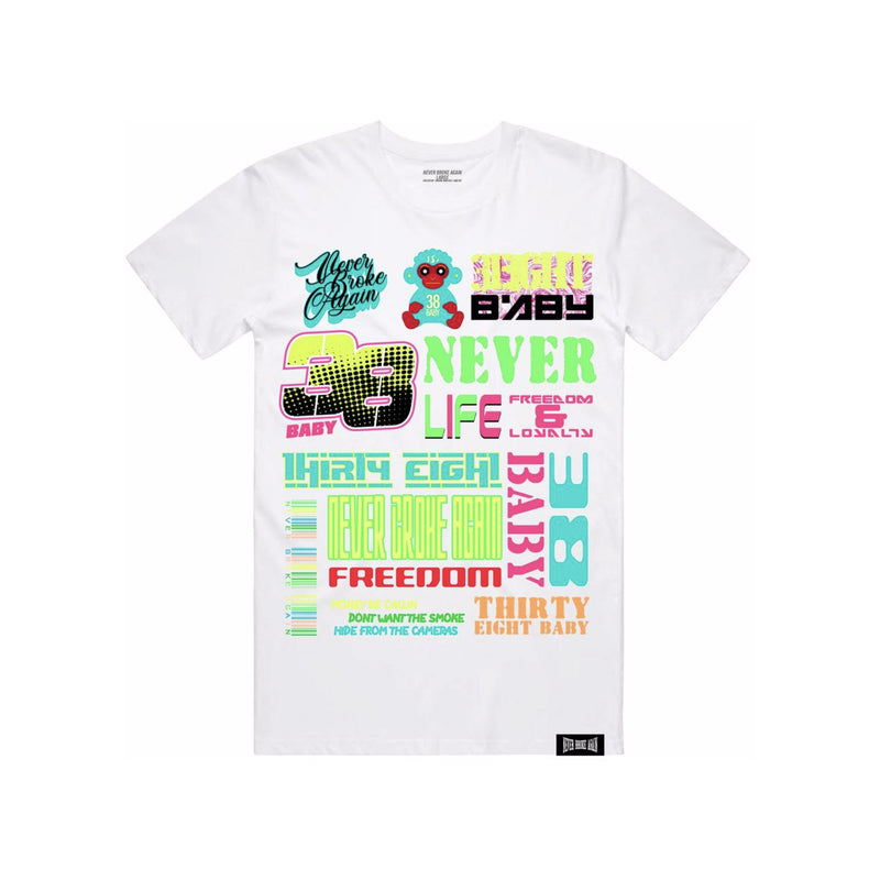 NBA Youngboy Scattered T-Shirt White