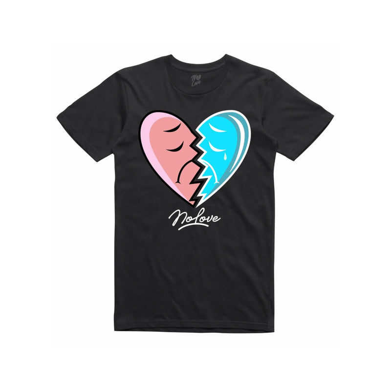 No Love Broke Heart T-Shirt Black