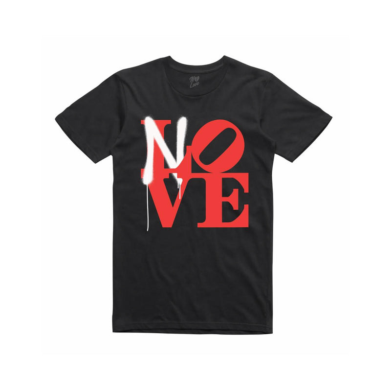 No Love Spray Paint T-Shirt Black