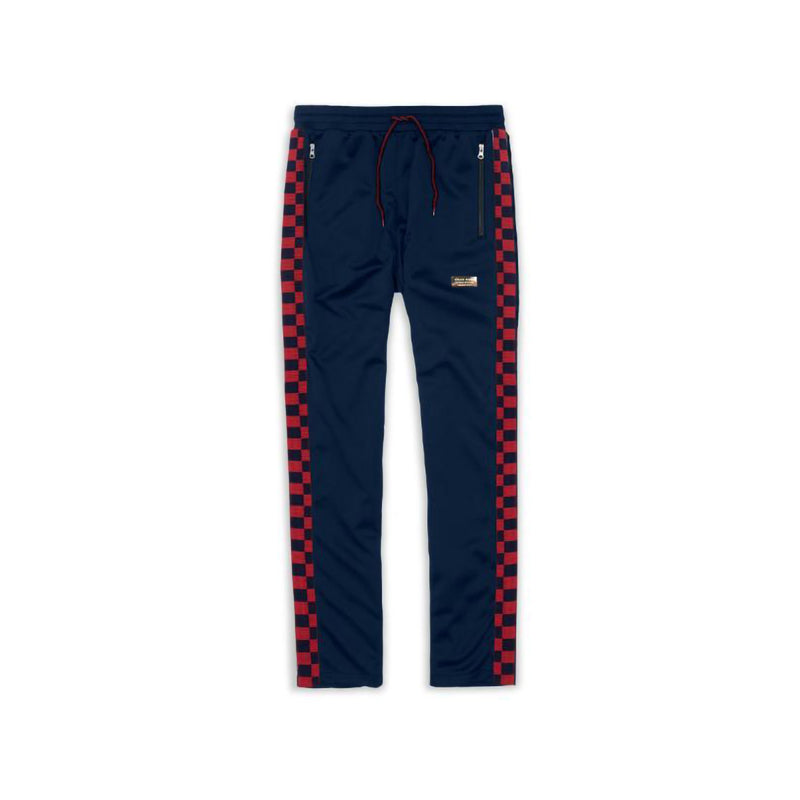 Reason Broadway Checkered Track Pants Navy