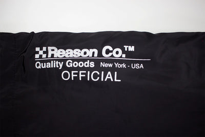 Reason Cartoon Remix Anorak Black Reason Text