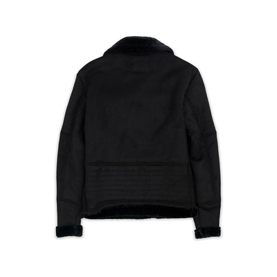 Reason Coalation Suede Shearling Moto Black Back