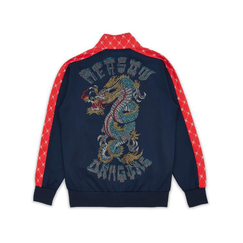 Reason Dragons Monogram Track Jackets Navy Back