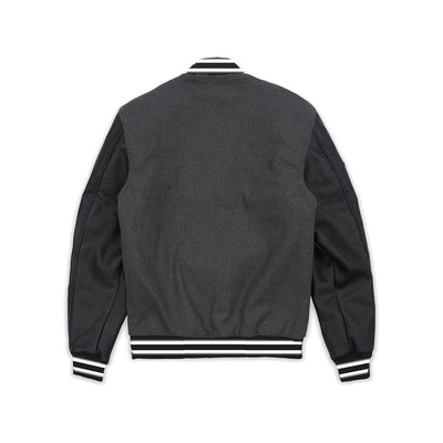 Reason Fearless Bomber Jacket Dark Grey Back