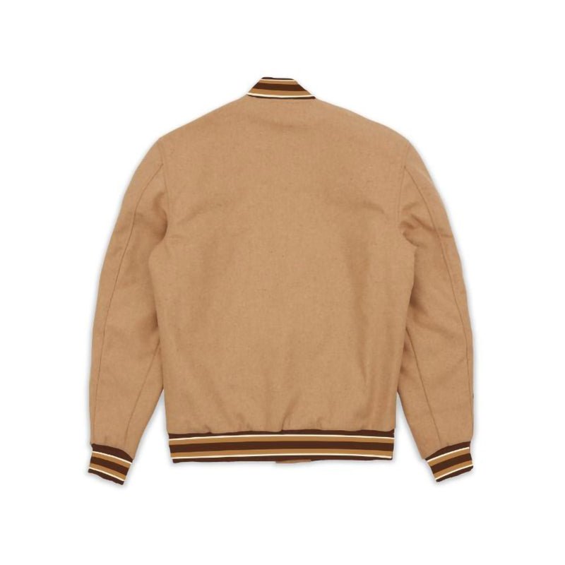 Reason Fearless Bomber Jacket Tan Back