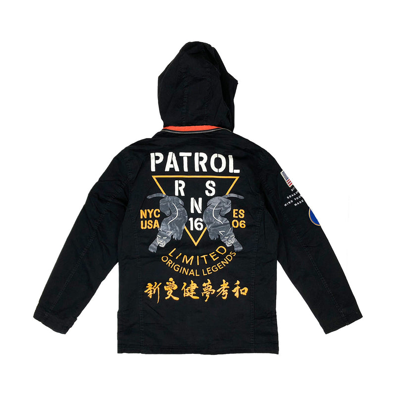 Reason Generals M-65 Military Jacket Black Back