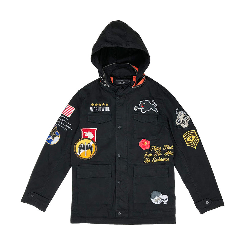 Reason Generals M-65 Military Jacket Black