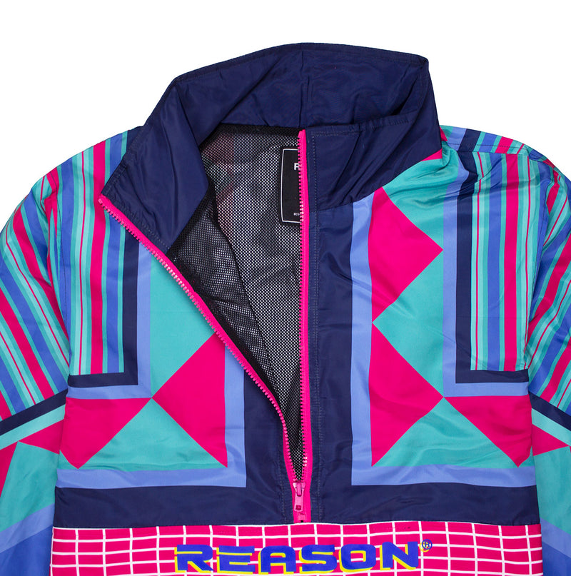 Reason Neo Abstract Track Jacket Multi Mesh Lining