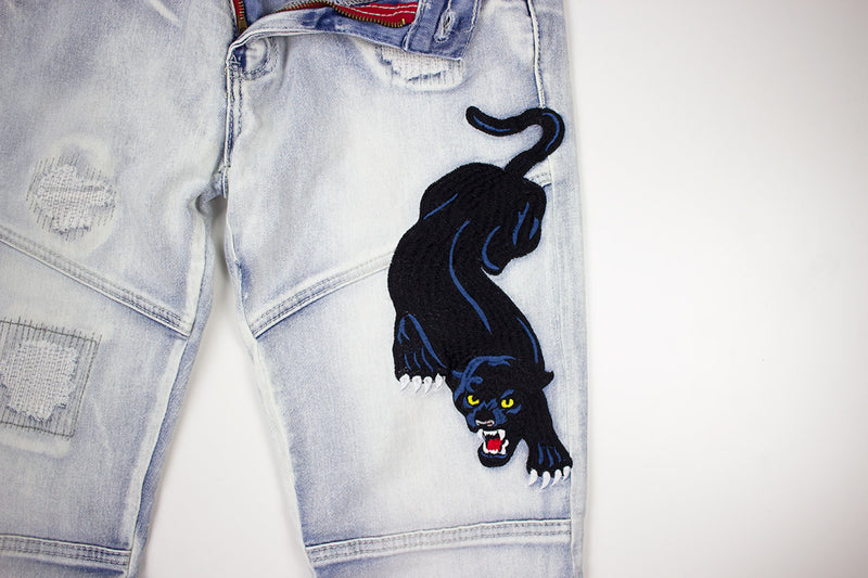 Reason Panther Denim Ice Blue Patch