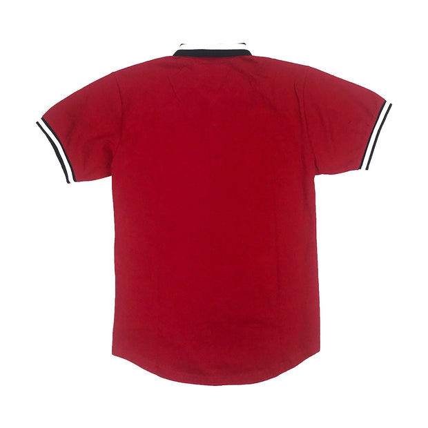 Reason Regal Print Polo Red Back