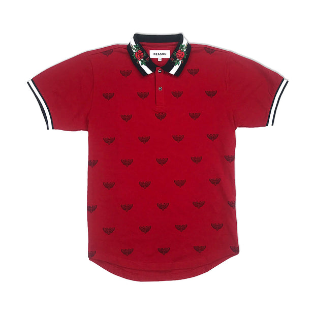 Reason Regal Print Polo Red