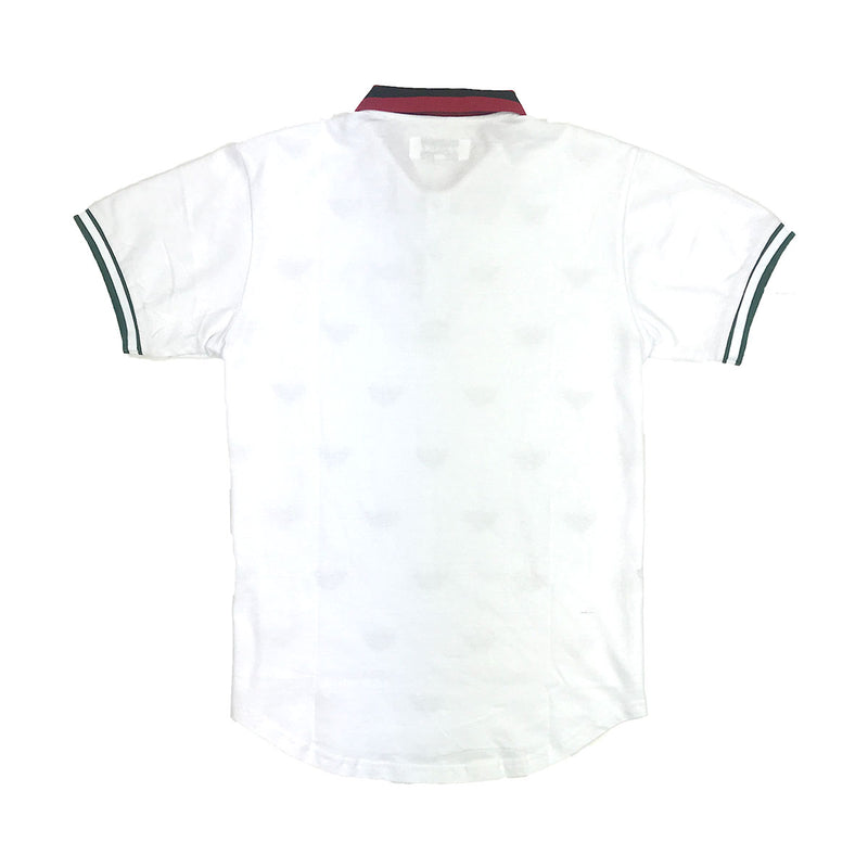 Reason Regal Print Polo White Back