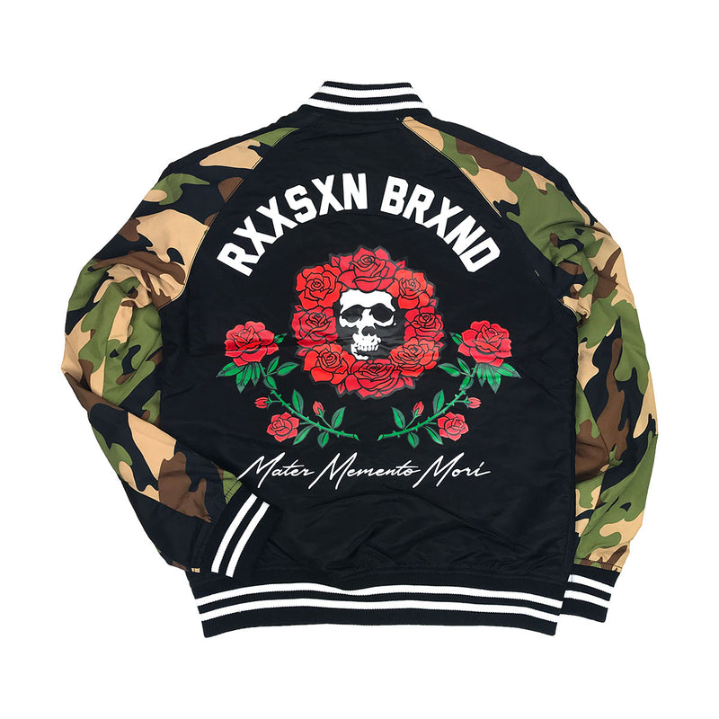 Reason Skull & Roses Bomber Black Back