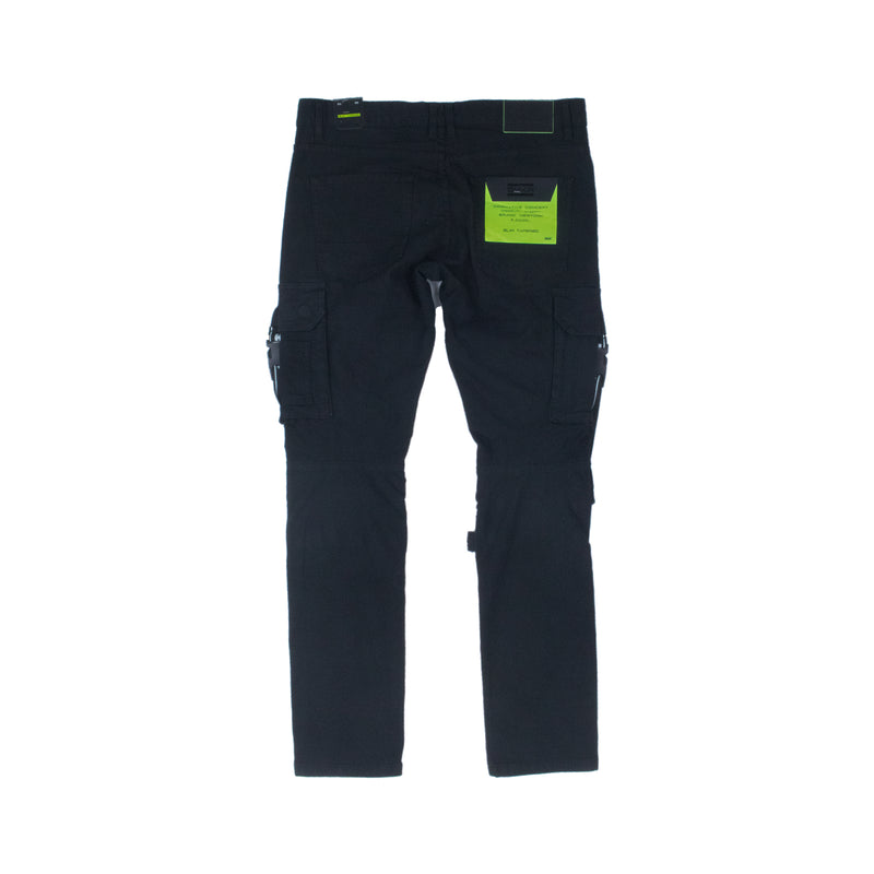 Smoke Rise Men's Twill Cargo Utility Pants Black Back