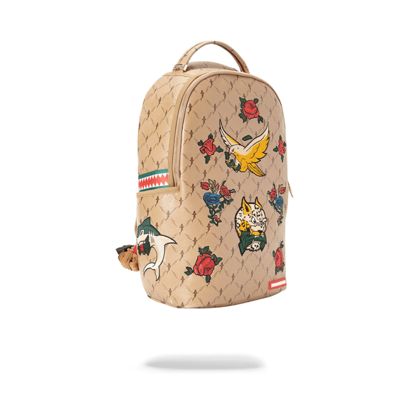 Sprayground Air Italia Backpack Tan Angled