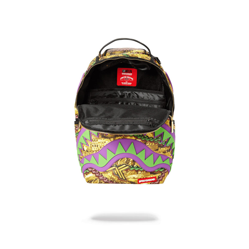 Sprayground Alvin Kamara Backpack Opened