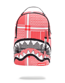 Sprayground Arabia Knit Shark Backpack Red Front