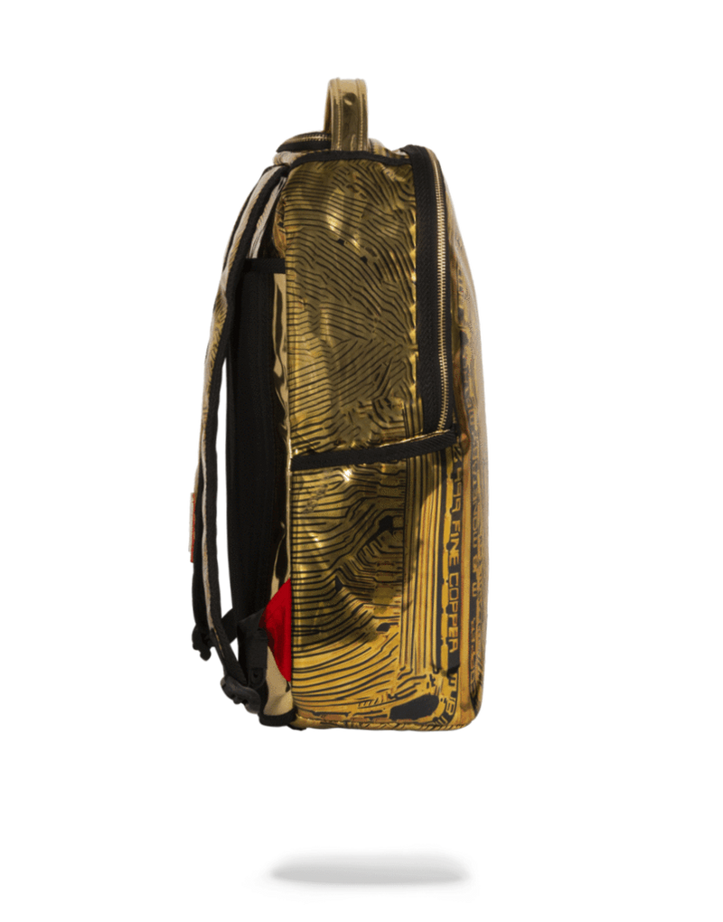 Sprayground Bitcoin Bag Gold Side
