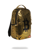 Sprayground Bitcoin Bag Gold Right Side