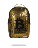 Sprayground Bitcoin Bag Gold