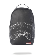 Sprayground Broken Glass Shark Backpack Black Front