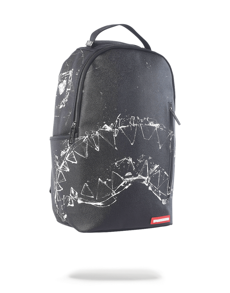 Sprayground Broken Glass Shark Backpack Black