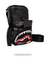 Sprayground Camo Shark Mini Sling Woodland Camo