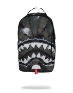 Sprayground Camo Tie Dye Shark Backpack Front