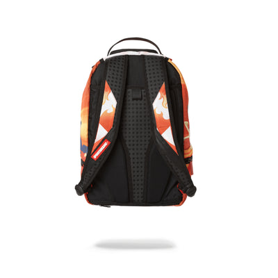 Sprayground Pokemon Fire Shark Backpack Orange Back